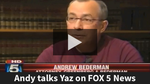 Andy Bederman Discusses Yaz Lawsuits on Fox 5 News